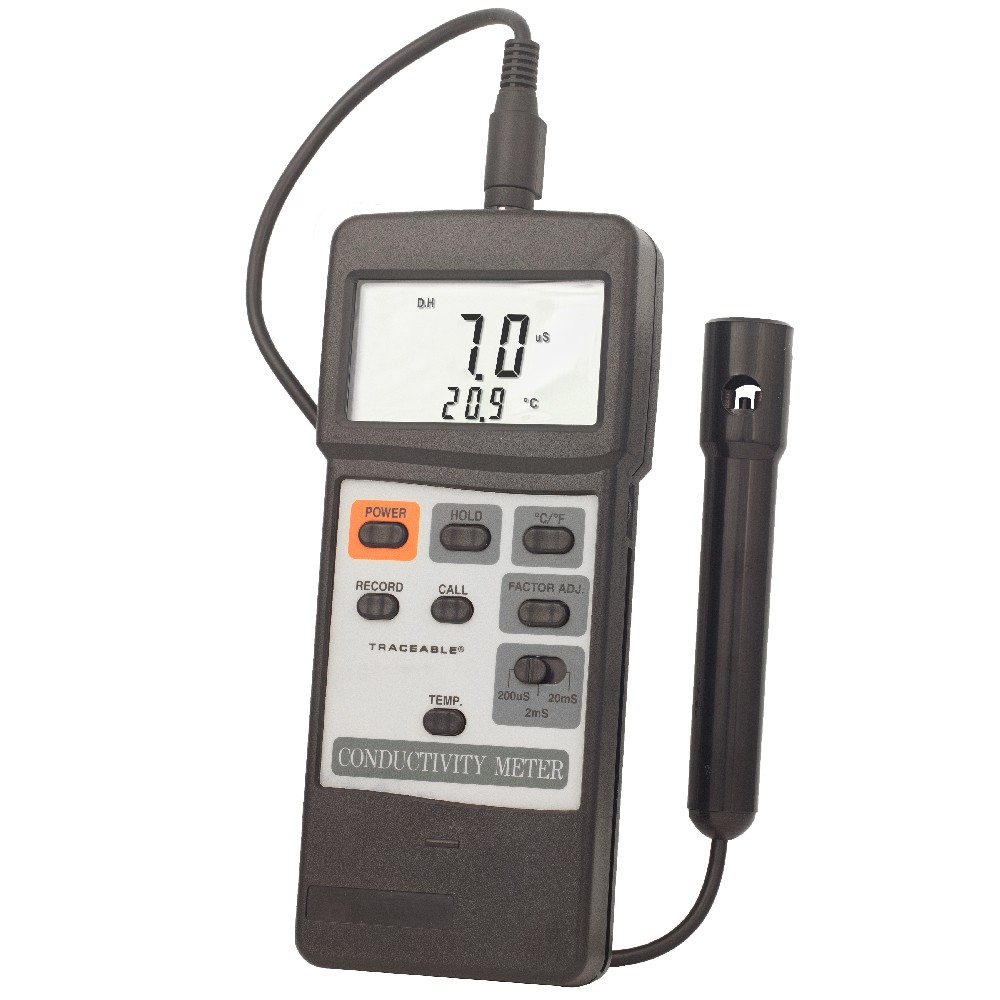 Electrical Conductivity Meter : Traceable dual display conductivity meter