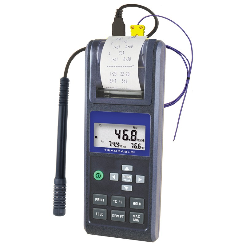 Printing Traceable Hygrometer Thermometer