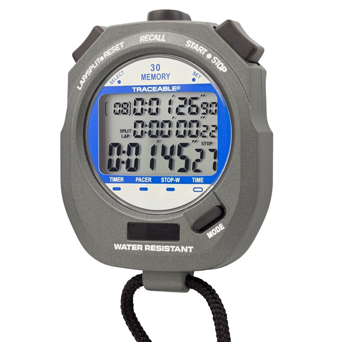 Dual-Display Traceable Digital Stopwatch