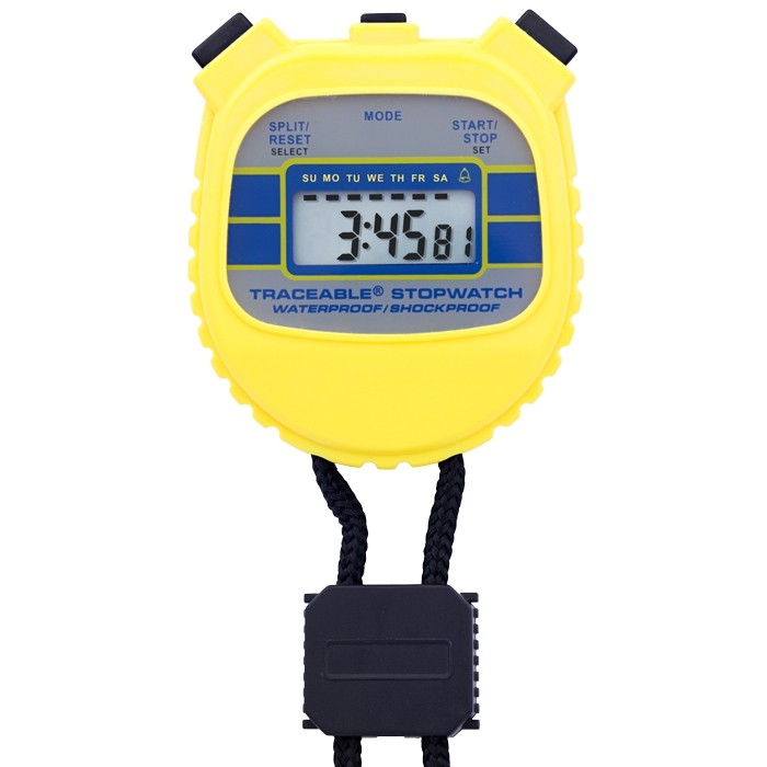 Water-Resistant/Shockproof Traceable Stopwatch