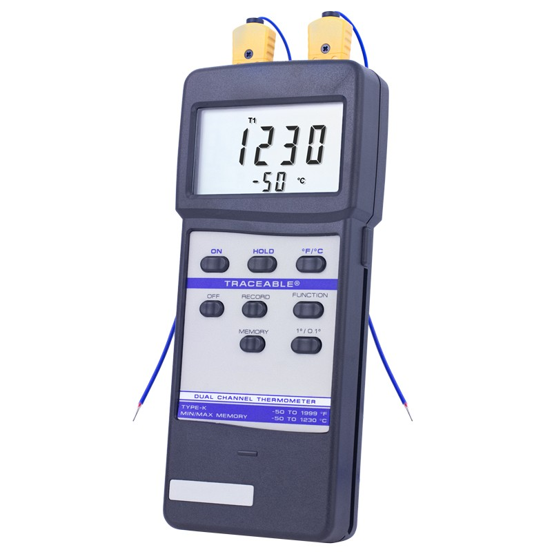 Dual-Channel Traceable Thermometer