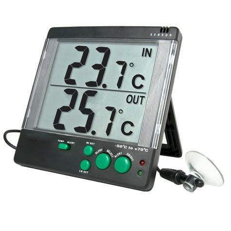 4142 Big-Digit 4-Alert Alarm Traceable Thermometer °C