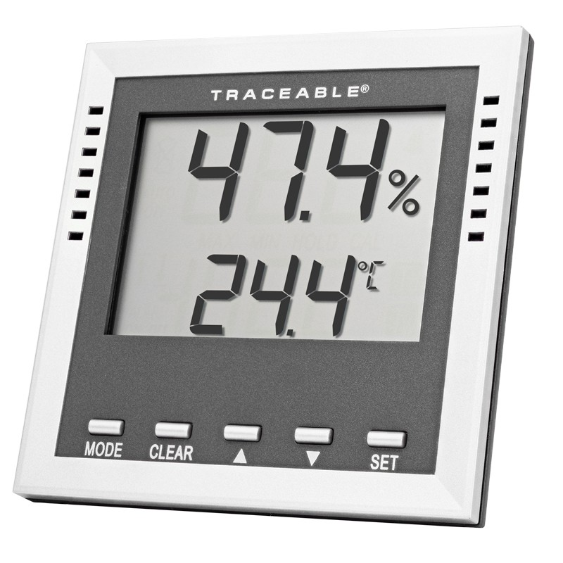 Humidity- Dew-Point-Wet-Bulb- Traceable Thermometer Alarm