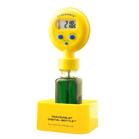 Digital-Bottle Refrigerator/Freezer Traceable Thermometer