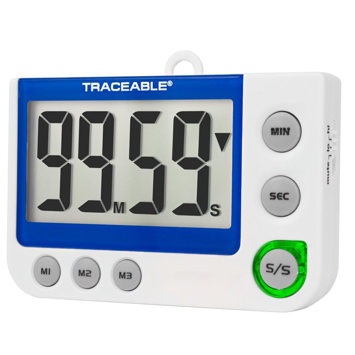 Flashing LED Alert Big-Digit Traceable Alarm Timer