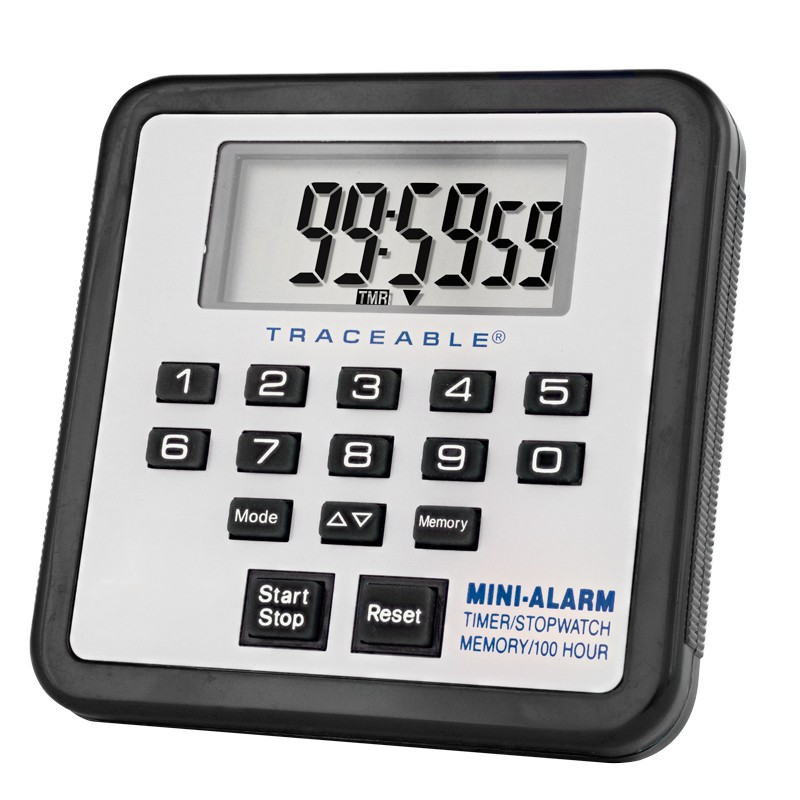 Mini-Alarm Traceable Timer/Stopwatch