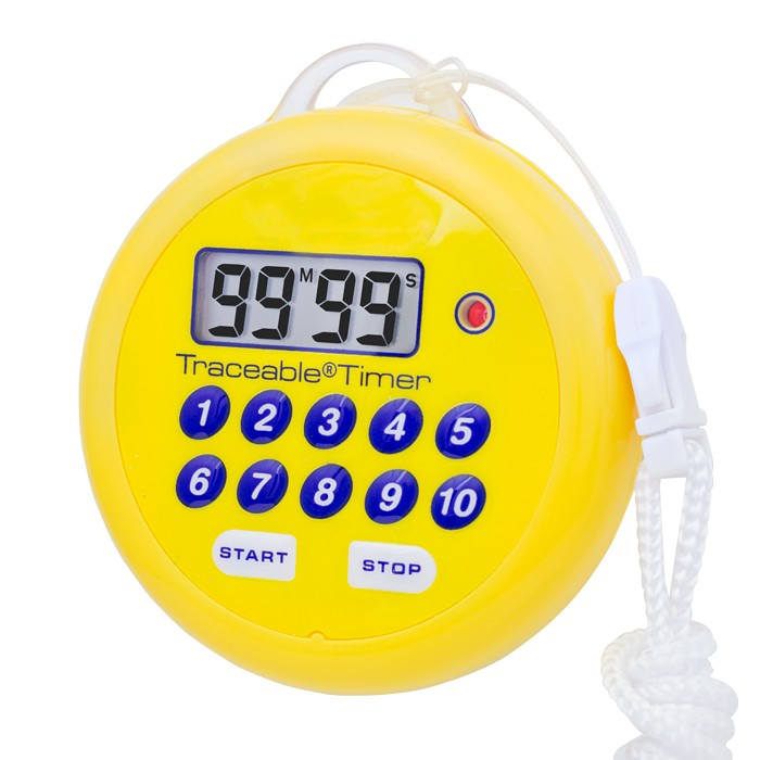 Water-Resistant, Traceable Flashing Timer