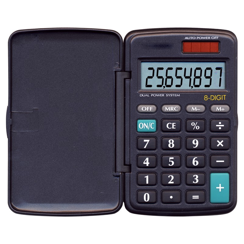 6023 Big Digit Solar-Powered Calculator