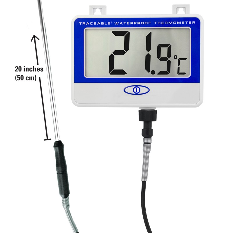 6406 Traceable Extra Extra Long Probe Waterproof Thermometer