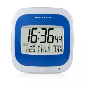 Calendar Thermometer Traceable® Clock