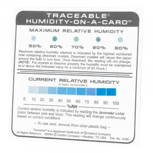 Traceable Humidity-On-A-Card
