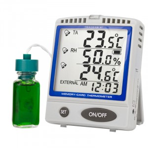 Memory-Card Refrigerator/Freezer Bottle Traceable Thermometer