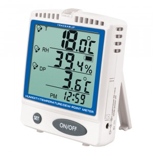 Memory-Card Humidty Temperature Dew Point Traceable Thermometer