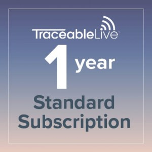 TraceableLIVE Standard 1 Year Subscription