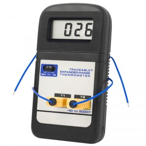 Expanded-Range Fahrenheit Traceable Thermometer