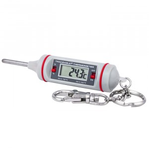 4351  Key-Chain Traceable Thermometer