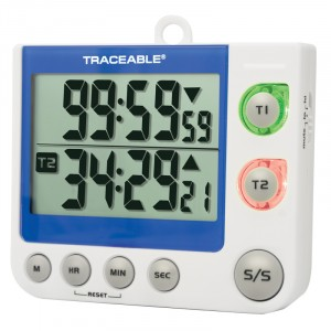 Flashing LED Alert Big-Digit Dual Channel  Traceable Timer