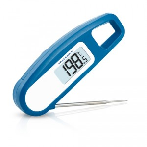 Rapid-Response Stainless Steel Folding Traceable Thermometer