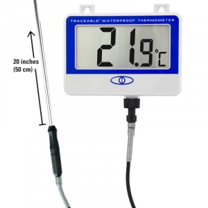 Extra-Extra Long-Probe Waterproof Traceable Thermometer