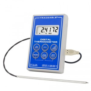 Platinum Ultra-Accurate Stainless Steel Digital Traceable Thermometer