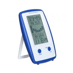 Precision Traceable Thermometer/Clock/Humidity Monitor with Graph