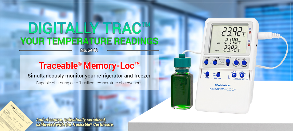 Vaccine thermometer. Ultra™ Accuracy. Refrigerator Thermometer. CDC requirements. Bottle Probe