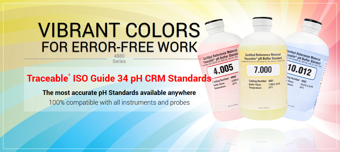 4280 Traceable® ISO GUIDE 34 pH CRM STANDARDS