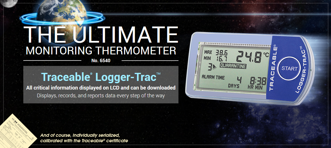 6540 Traceable® Logger-Trac. Refrigerator, transportation, handling, monitor