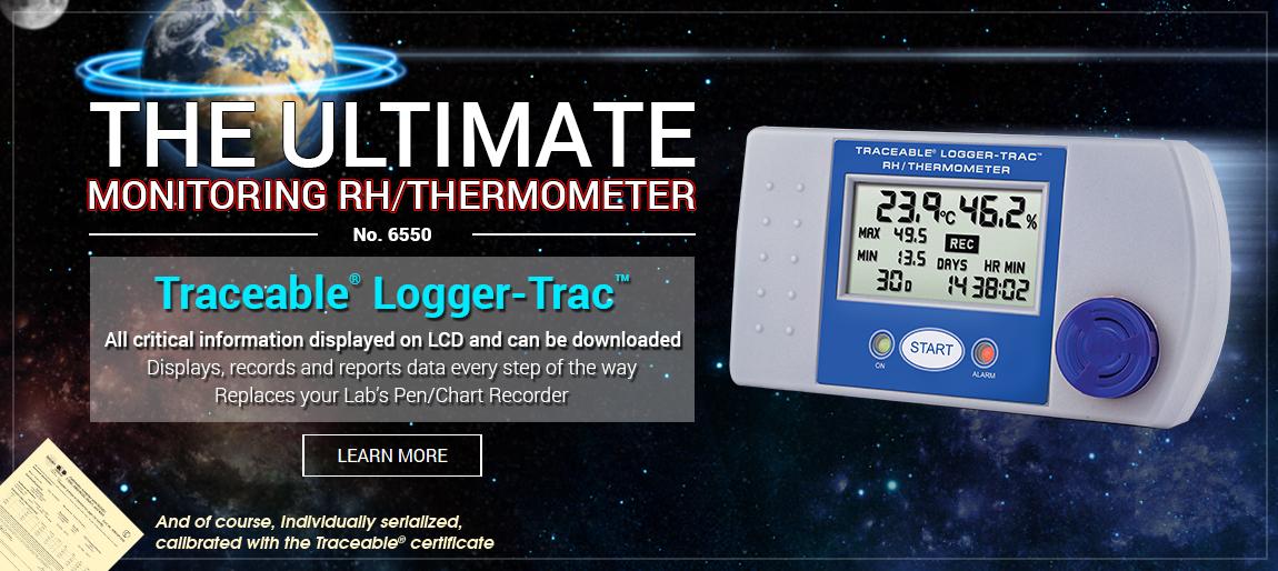 6550 Traceable® Logger-Trac™ RH/Temperature, transportation, handling, monitor