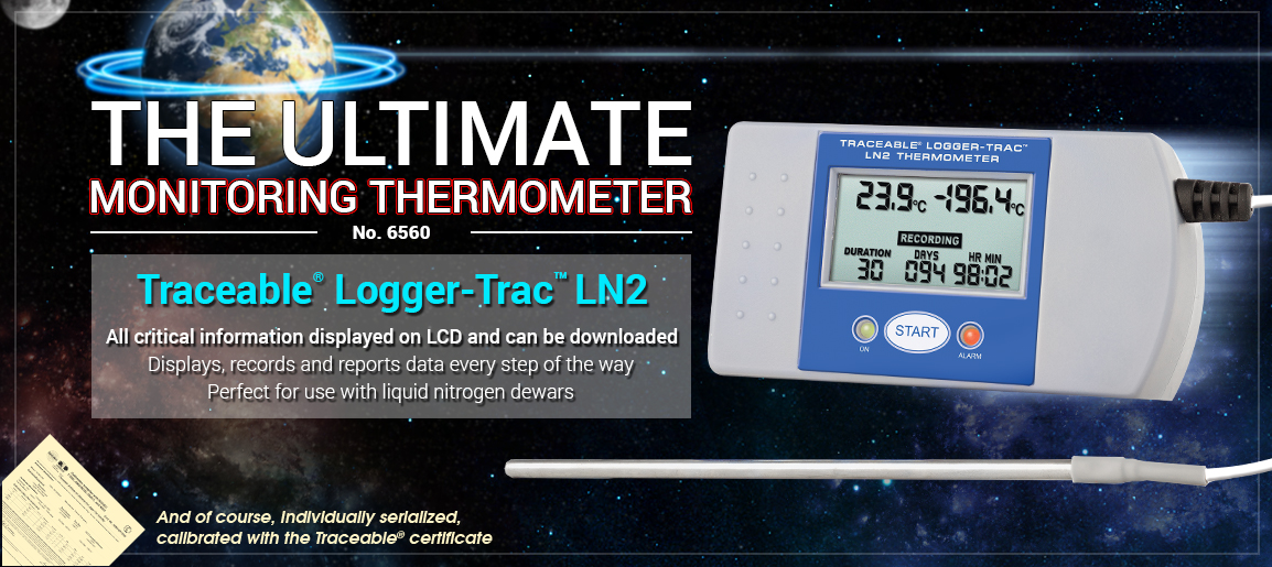 6550 Traceable® Logger-Trac™ LN2, transportation, handling, monitor