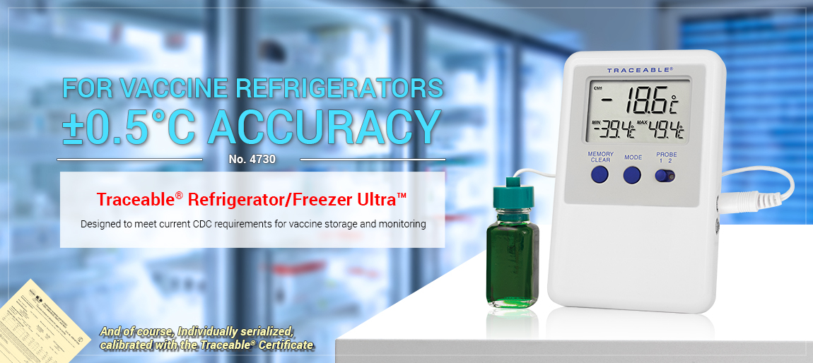 4730 Traceable® Refrigerator/Freezer Ultra™ Thermometer, refrigerator, freezer, waterbath, monitor,