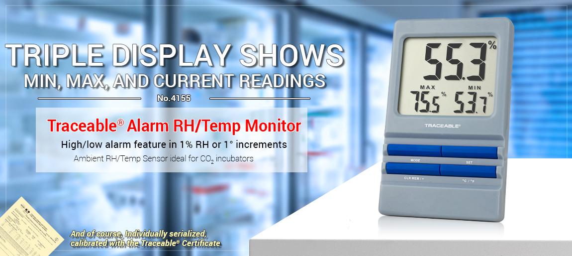 4155 Traceable® Alarm RH/Temp. Monitor