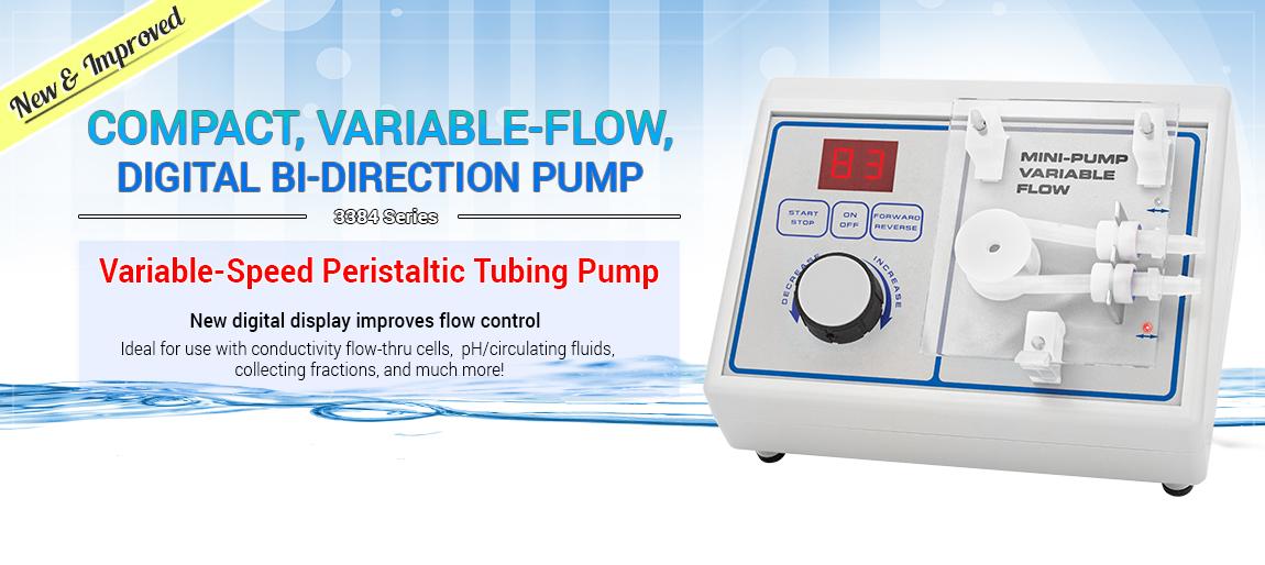 3384 Variable-Speed Peristaltic Tubing Pump