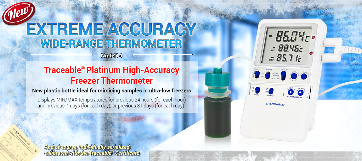 6414 Traceable® Platinum High-Accuracy Freezer Thermometer